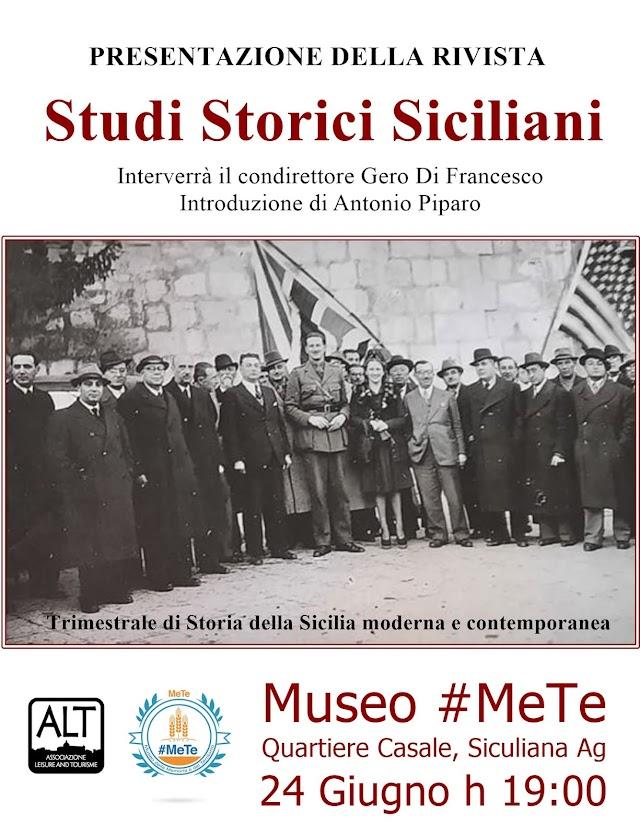 """Museo #MeTe - Presentazione della rivista """"Studi Storici Siciliani"""""""