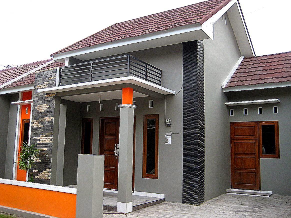 kombinasi warna cat rumah minimalis tampak depan desain rumah