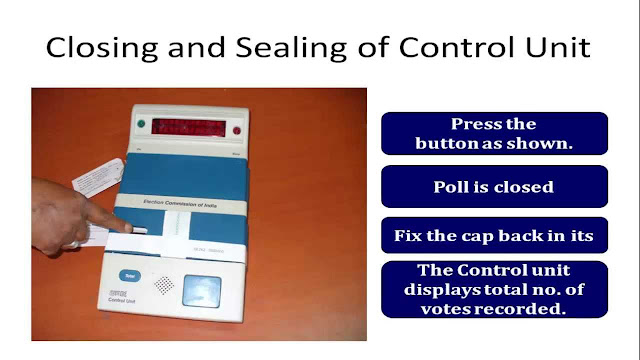 How To Seal EVM Control Unit With paper seal and Strip Seal