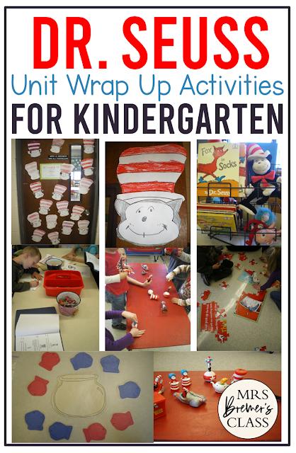 Dr. Seuss unit activities and centers for Kindergarten