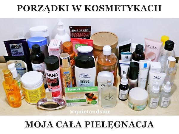 Nigdy więcej bałaganu w kosmetykach! Moja cała pielęgnacja + zapasy kosmetyczne