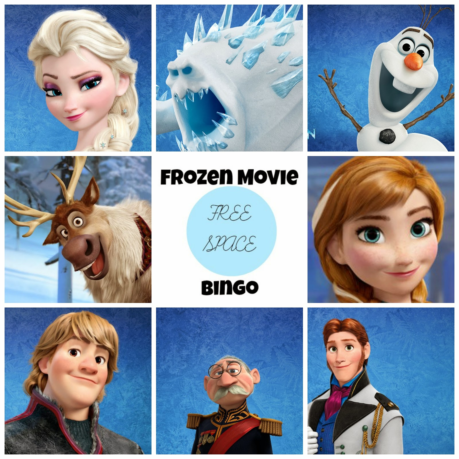 Frozen Free Printable Bingo Oh My Fiesta In English