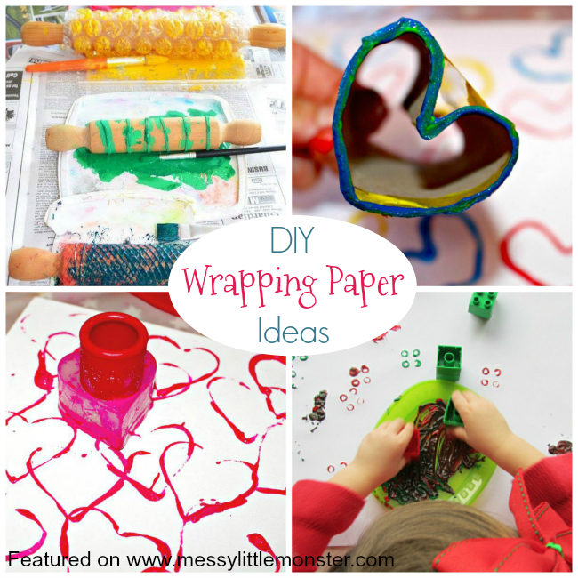 Christmas activity advent calendar - homemade wrapping paper