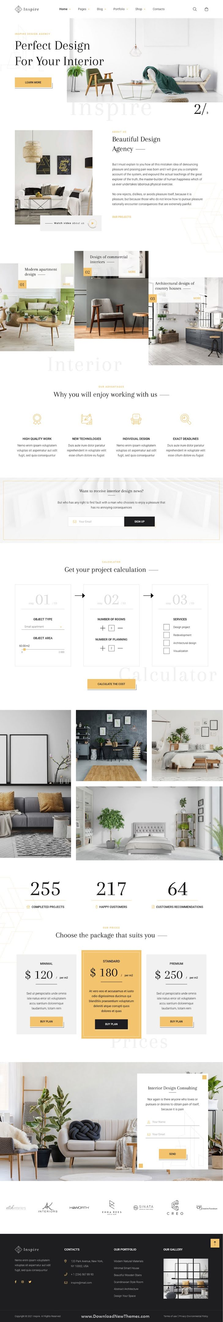 Interior and Architecture Bootstrap Template