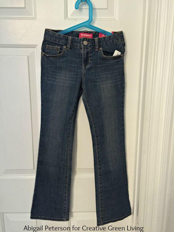 3c869de3f How to Make a DIY Jean Skirt Out of Denim Pants - Creative Green Living