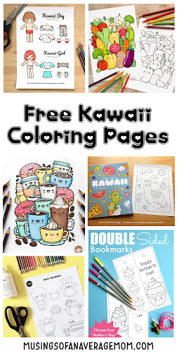 Free Kawaii coloring pages