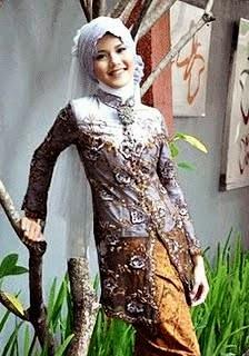 Gambar Model Kebaya Modern Berjilbab