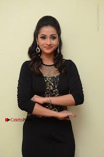 Telugu Actress Manasa Manohar Stills in Black Long Dress at Naku Nene Thopu Turumu Trailer Launch  0060.JPG