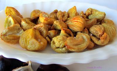 Castañas fritas