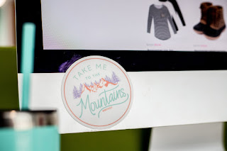 take me to the mountains sticker from marleylilly for your desktop