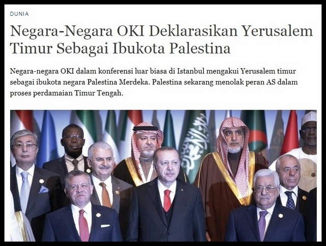 Deklarasi OKI Menjadikan Yerusalem Timur Ibukota Palestina, Apakah Melanggar Hukum Internasional?