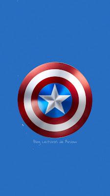 papel de parede para celular capitão américa, papel de parede azul com escudo do capitão américa, papel de parede da marvel