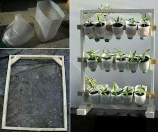recipientes plasticos reciclados para huerta