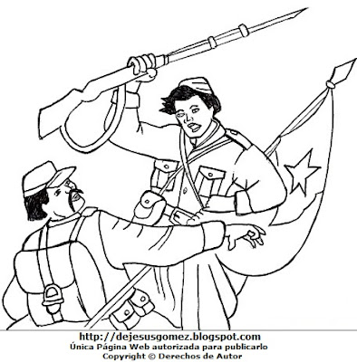 Imagen de la Batalla de Tarapacá para colorear pintar e imprimir, hecho por Jesus Gómez