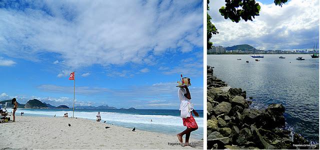 Praia de Copacabana e bairro da Urca, Rio de Janeiro