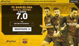 betfair supercuota victoria del Barcelona al Leganés 18 noviembre