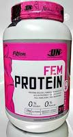 La fem protein de la marca fitfem aporta whey protein para mujeres