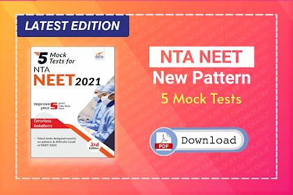 [Pdf] Disha 5 Mock Tests for NTA NEET 2021   Download Latest eBook