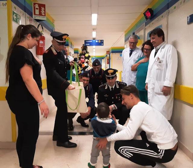 I Carabinieri di Cerignola donano sorrisi e regali ai piccoli della Pediatria ofantina