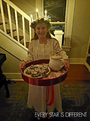 Santa Lucia with her Breakfast Tray
