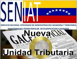 Gaceta Oficial: Reajuste del  Valor de la Unidad Tributaria a Bs. 850,00 (Bs.S 0,85)