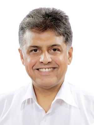 Lawyer and M. P. Manish Tewari