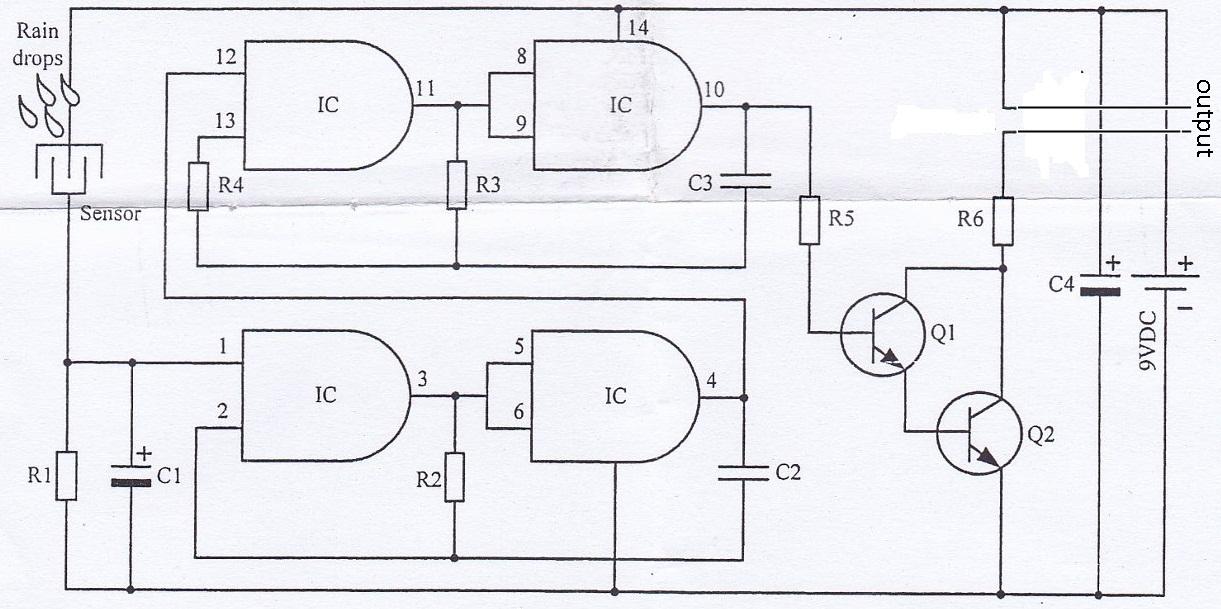 rain detector circuit