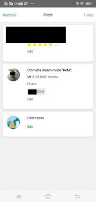 Tampilan Halaman Profile Driver Pada App inDriver