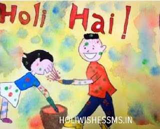 holi drawings for children