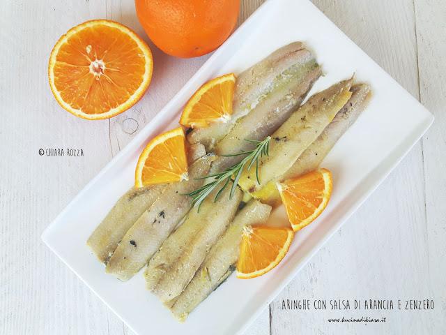 Filetti di aringa saltati in padella con salsa di arancia for Cucinare zenzero