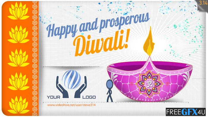 Happy Diwali Greeting After Effects Project
