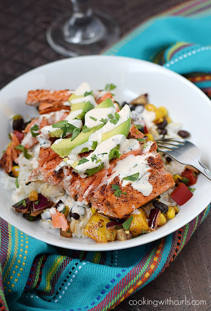 southwest salmon bowl recipe