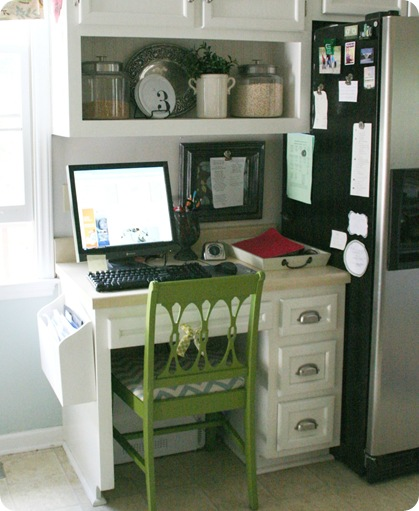 Kitchen Command Center: {OrganizedHome} Day 17: Command Centers