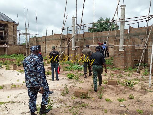 SARS Demolishes Kidnapper's Mansion In Mgbidi (Photos)