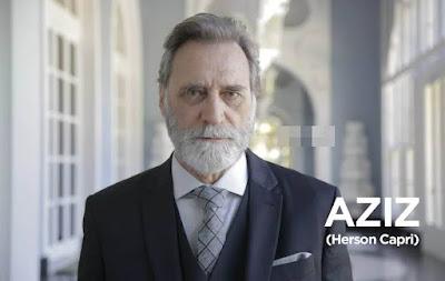 Herson Capri como Aziz Abdallah em Órfãos da Terra