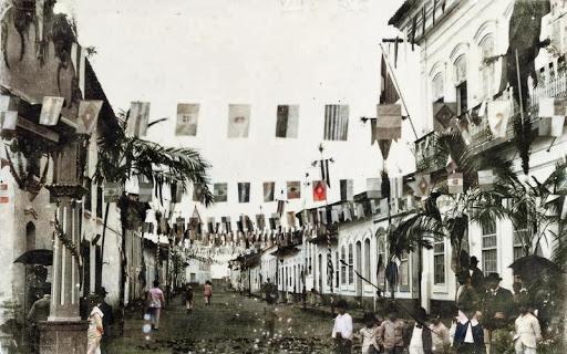 Recepção a Carlos Botelho, na rua XV de Novembro, em Iguape.
