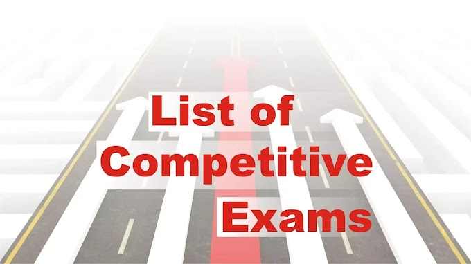 List of Competitive Exams for class 1 to 12