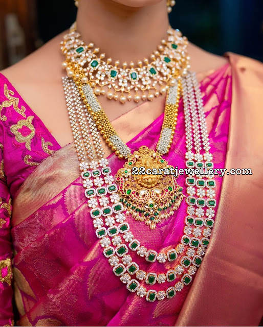 Bride in Pachi Necklace and Haram