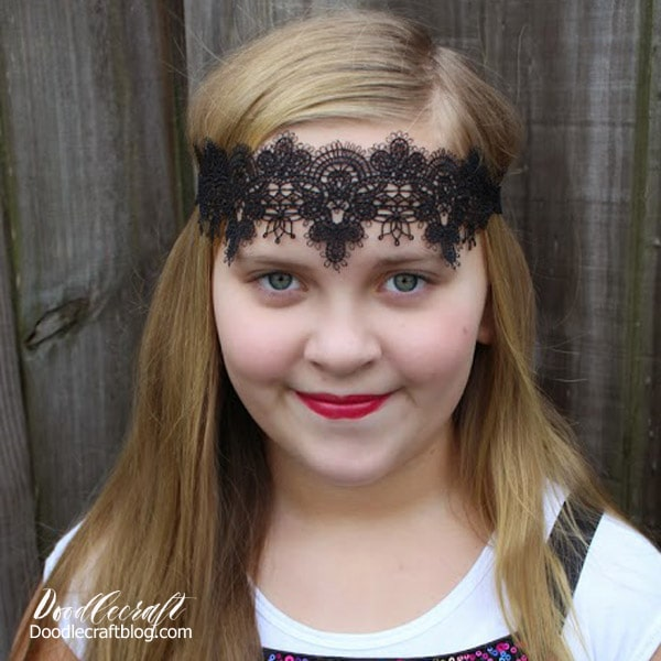 Make a stunning crown or tiara out of delicate lace. Inspired by Once Upon a Time, Evil Queen, Regina.