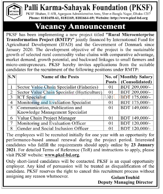 PKSF Job