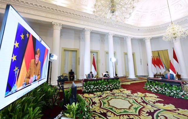 Lakukan Pertemuan Bilateral, Jokowi dan Kanselir Jerman Angela Bahas Berbagai Isu