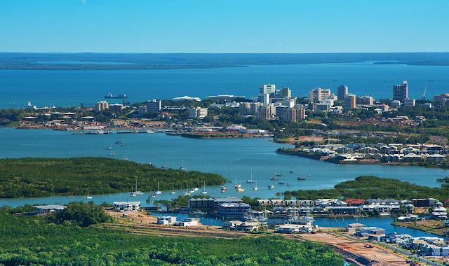 Foto aérea da cidade de Darwin - Austrália