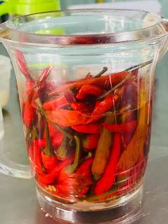 ớt hiểm dầm chua ngọt