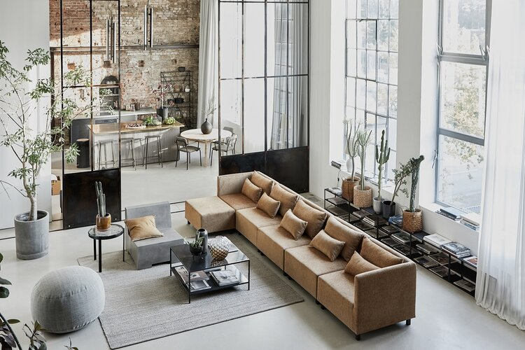 A Bright Industrial Loft Decorated With House Doctor's Spring-Summer Collection