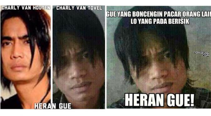 Kumpulan Meme Lucu 'Heran Gue' Charly Van Houten