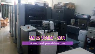 Mesin cetak Heidelberg 4 warna SM 52-4 Color