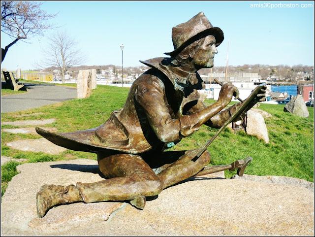 Fitz Henry Lane por el escultor Alfred Luca