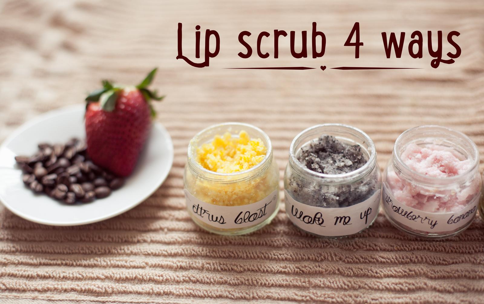 diy lip scrub four ways chantilly