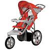 InStep Safari Single Swivel Stroller, Blue