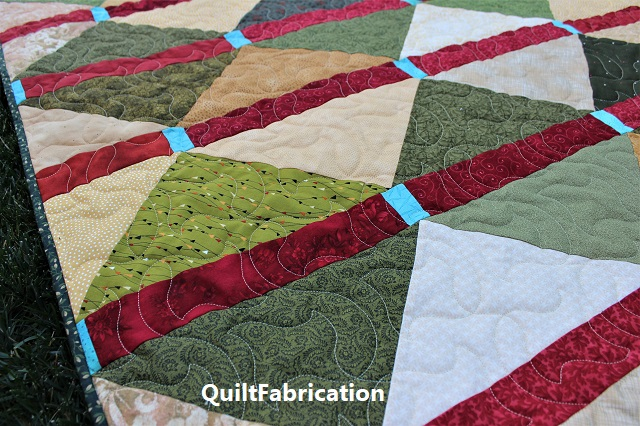 Paperchase panto quilting on McKenzie quilt